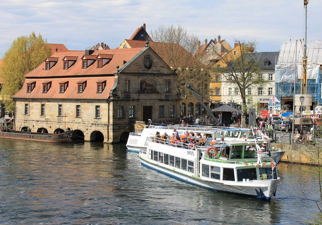 Бамберг. Река Регниц. Bamberg. Regniz river.