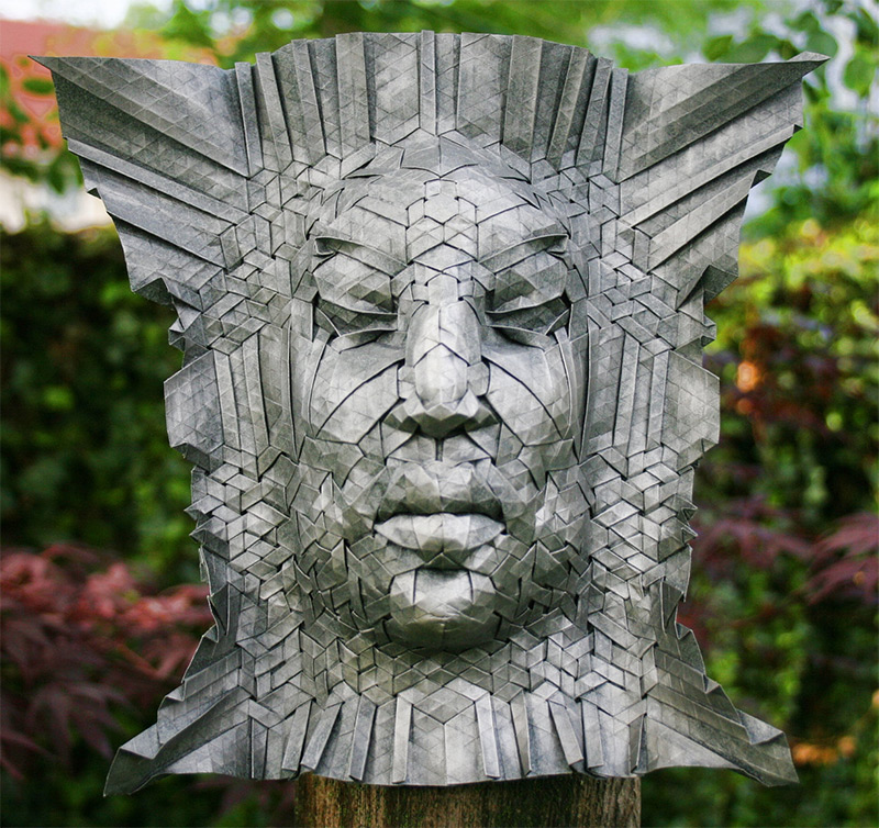 New Tessellated Origami Masks by Joel Cooper