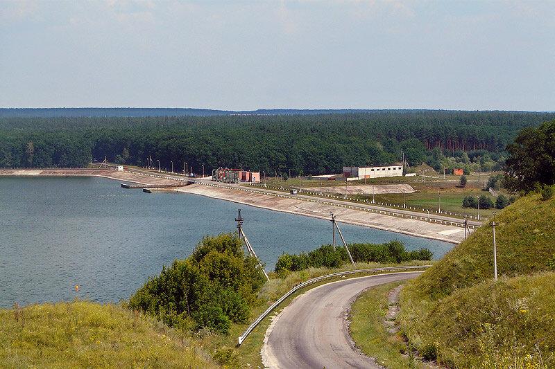 Вид на мыс в наше время с правого берега Донца. Фото Sanchess