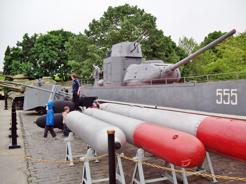 Морская техника в музее ВОВ