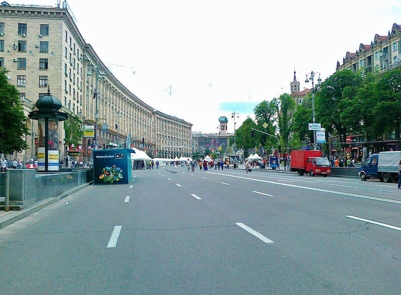 Крещатик накануне Евро 2012