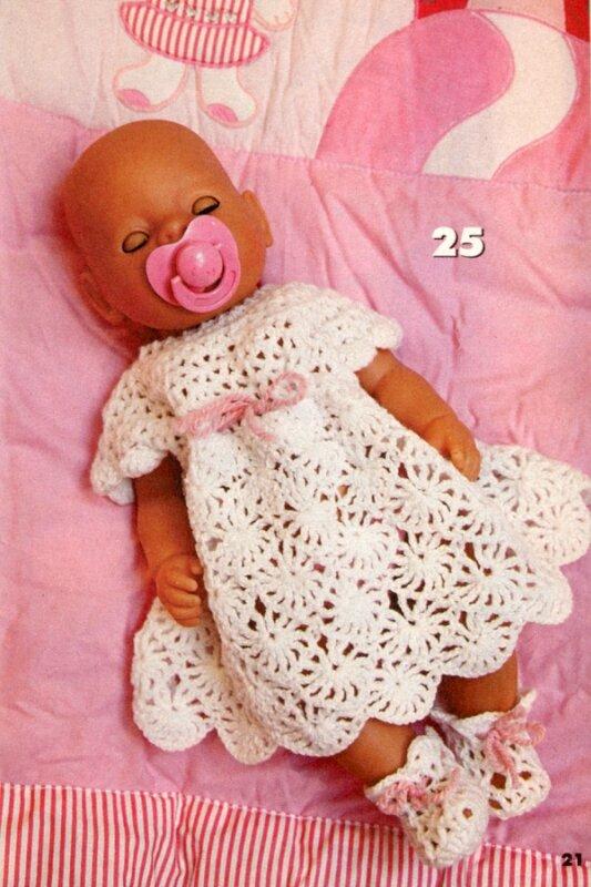 Вязание на куклу беби бон спицами