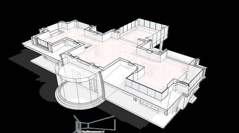 План второго этажа, жилой дом, особняк.