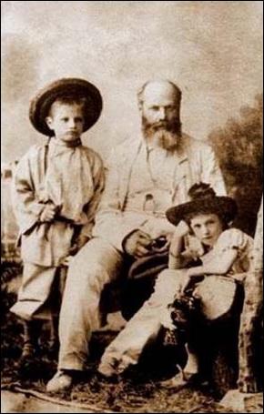 Луиджи Камбиаджио с детьми