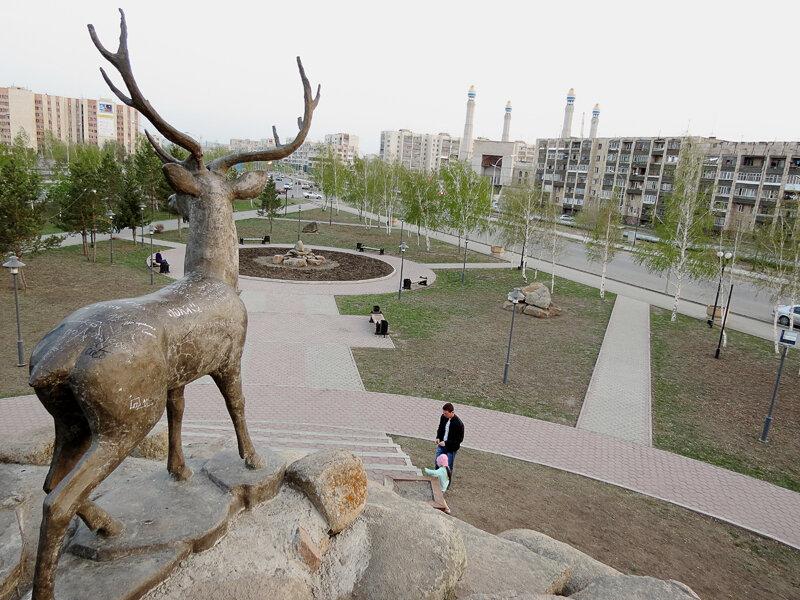 Вид из сквера на перекрестке Горького - пр.Абылай-хана - 2012. Комментарии к фото - Кокшетау Онлайн