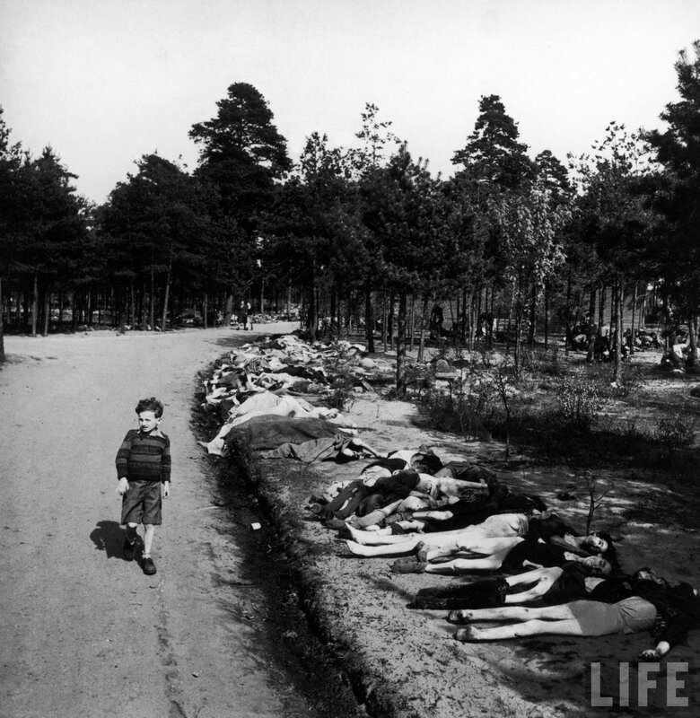 Лагерь смерти  Bergen Belsen 20 апреля 1945