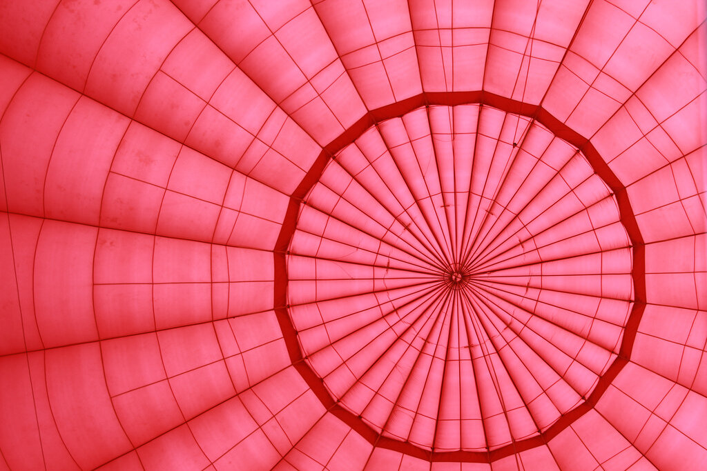 inside hot air balloon by Andrew Spooner