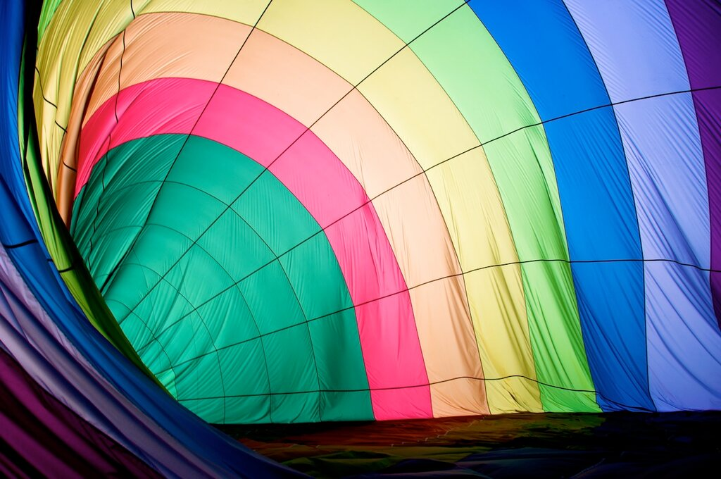 Tony Park Young inside hot air balloon