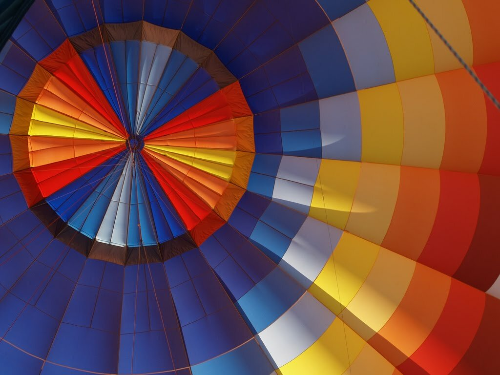 inside hot air balloon by saxonfenken