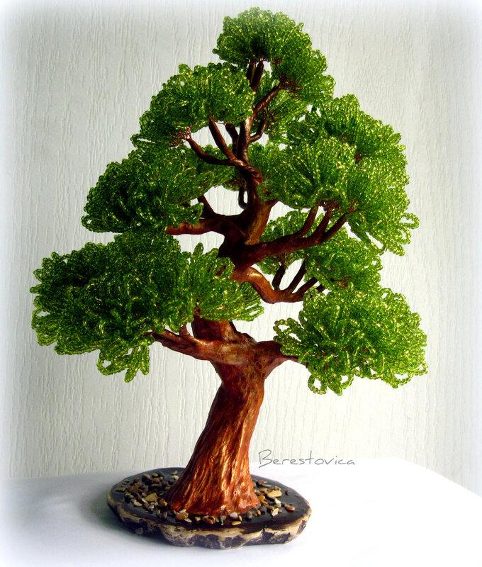Это дерево из обычного китайца, оттенок вроде тоже салатовый, но эффект уже не тот.  Зато дерево вышло высоким и...