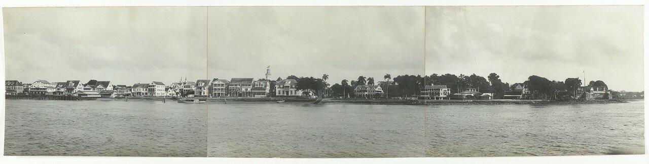 1925. Панорама набережной в Парамарибо