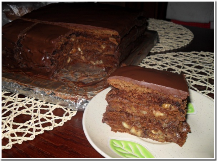 шоколадный торт дамский каприз фото рецепт