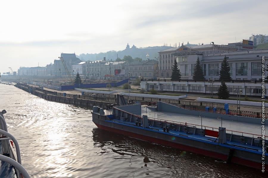 строительные работы на набережной Нижнего Новгорода