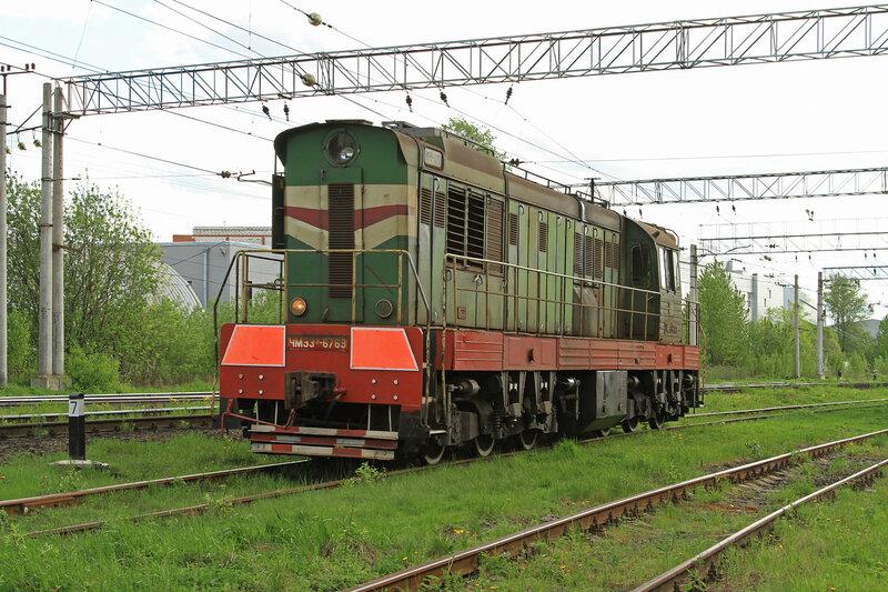 Тепловоз ЧМЭ3э-6769 на ст. Цветочная, Санкт-Петербург.  NOSFERATU.