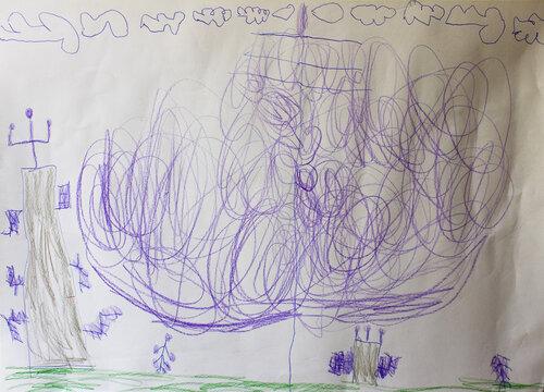 Выставка-конкурс детского рисунка. Автор: Ваня Апиянц (5 лет)