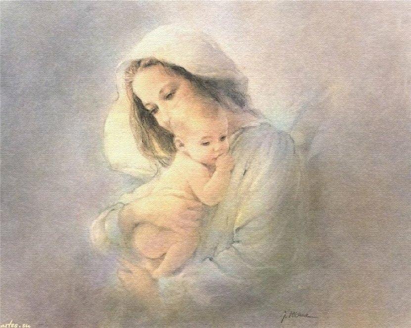 Картинка мама с ребенком на руках