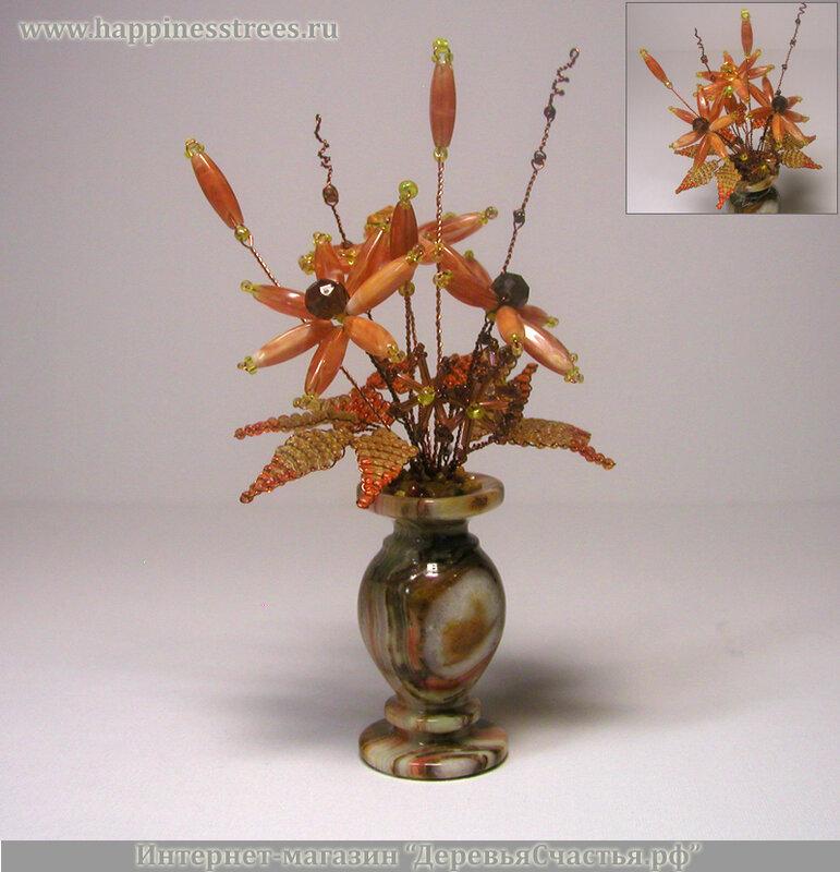Цветы из бисера и камней в Сургуте и Ханты-Мансийском автономном округе.
