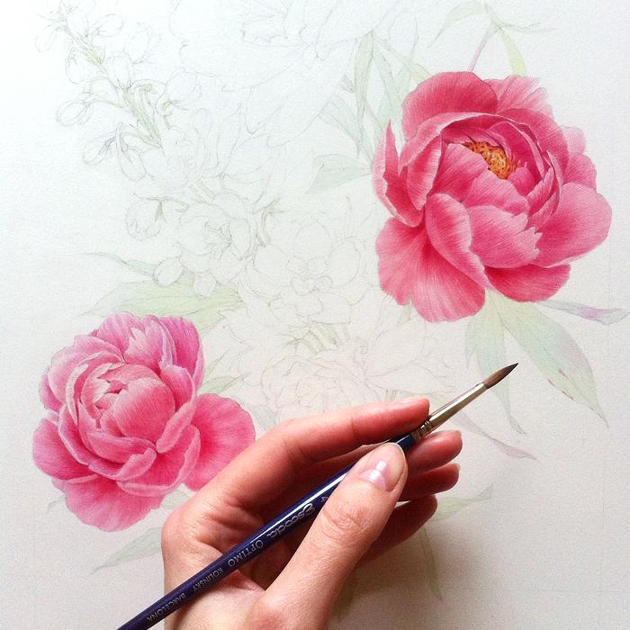 Акварельные Рисунки Natalia Tyulkina