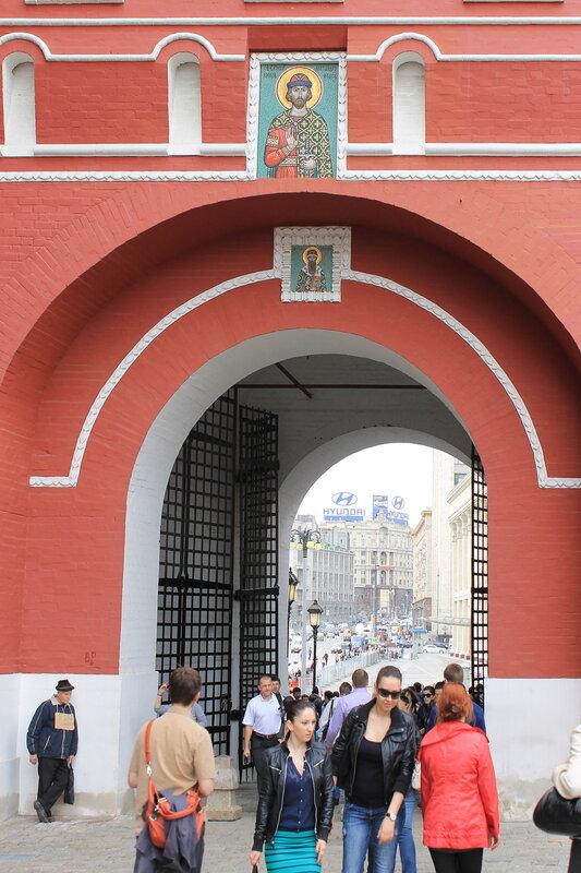 Москва. Красная площадь, Воскресенские ворота,