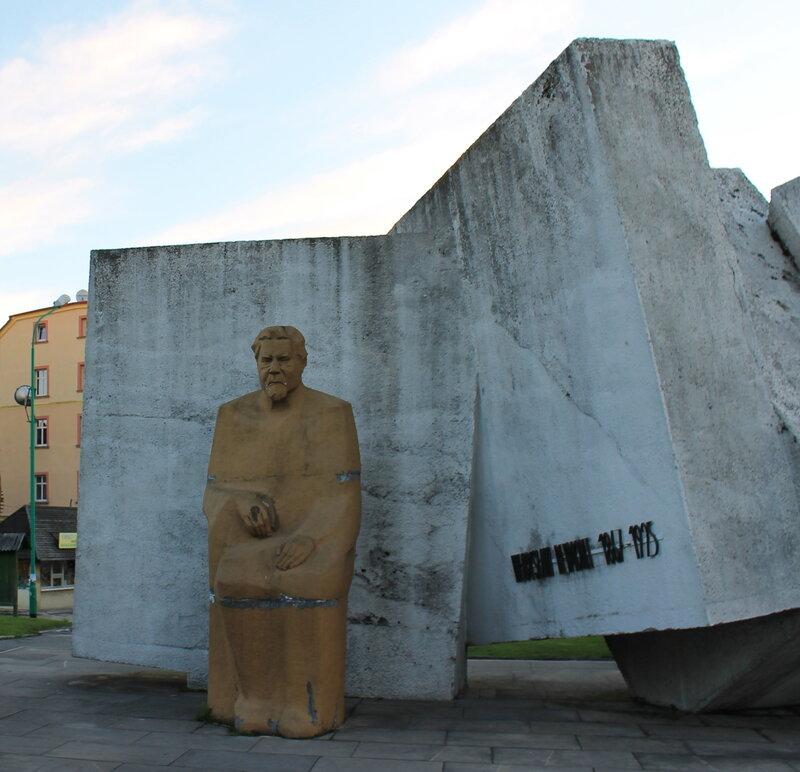 Злоторыя. Złotoryja. Памятник Владиславу Реймонту.(Władysław Stanisław Reymont monument)