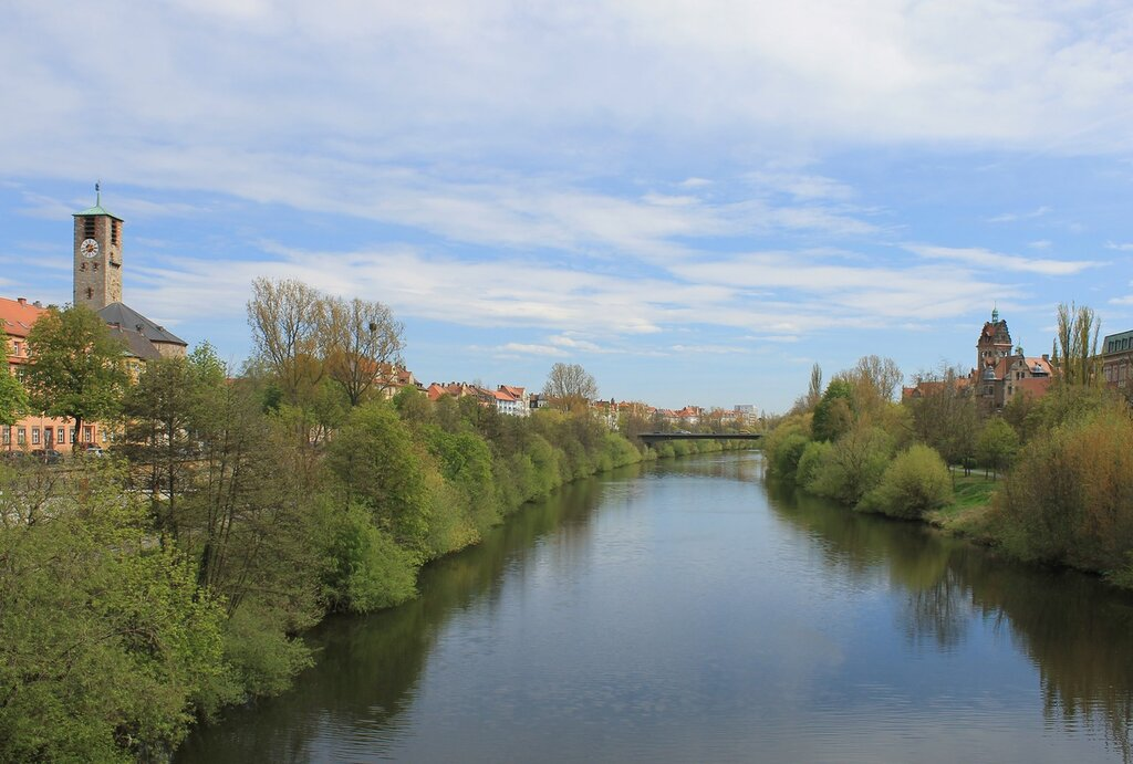 Bamberg. Embankment of the Main-Danube canal