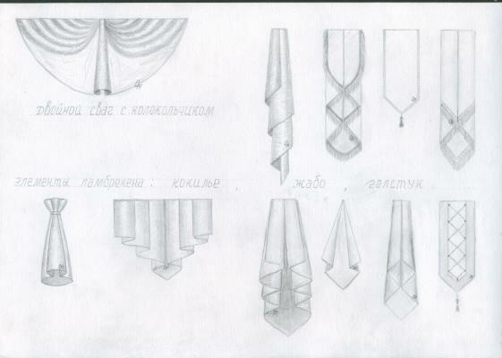 Ламбрекен галстук своими руками фото
