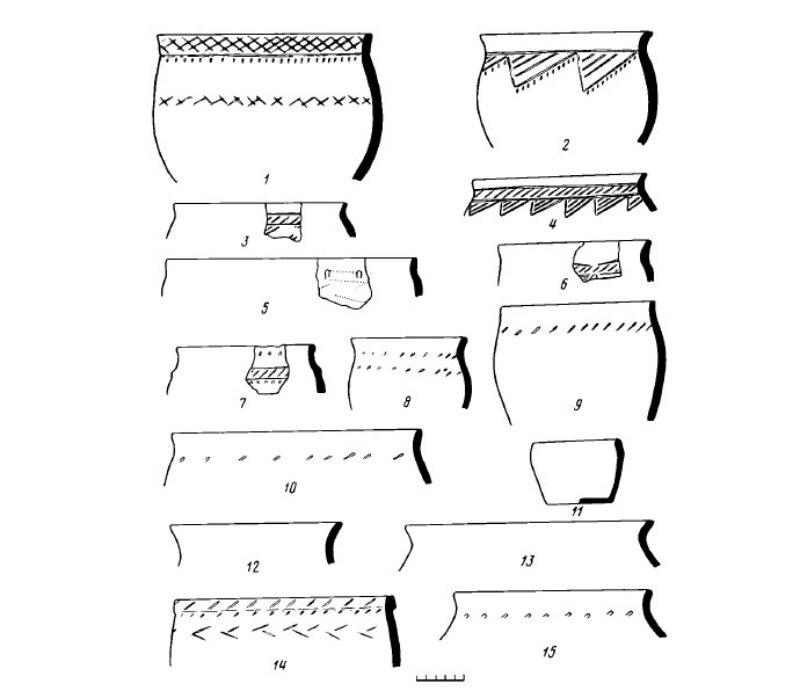 керамика найденная в селище бронзового века под Белгородом