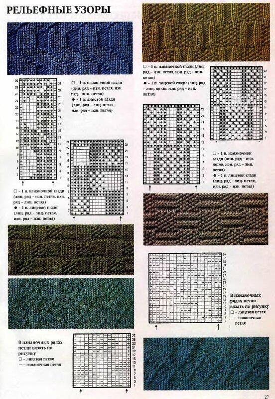 Схемы вязания на спицах.  Прочитать целикомВ.
