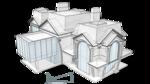 Mod 73-638 Двухэтажный жилой дом с мансардой
