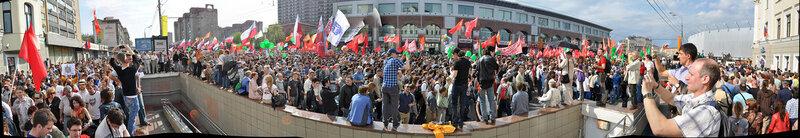шествие оппозиции в Москве 6 мая 2012