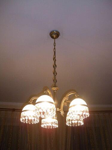 Фото 12. Замена люстры успешно выполнена. Да будет свет!