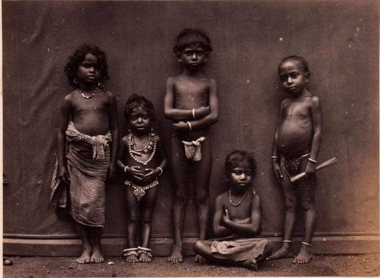 Тамильские дети.1880