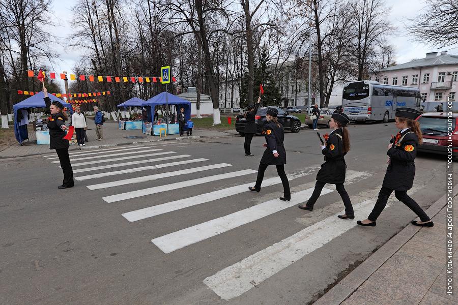 детский почетный караул в Ярославле