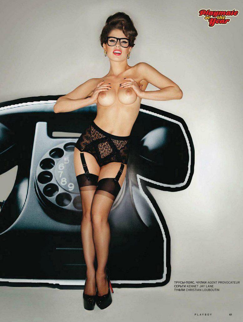 Девушка года Маша Титова в журнале Playboy Россия, июль 2012