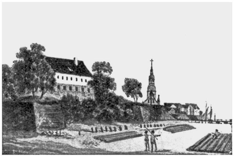 1790-92 Tilsit, Das Schloss von der Memelseite.jpg