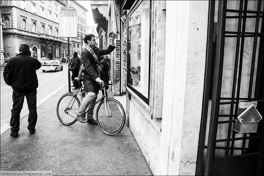 велосипедист в Риме