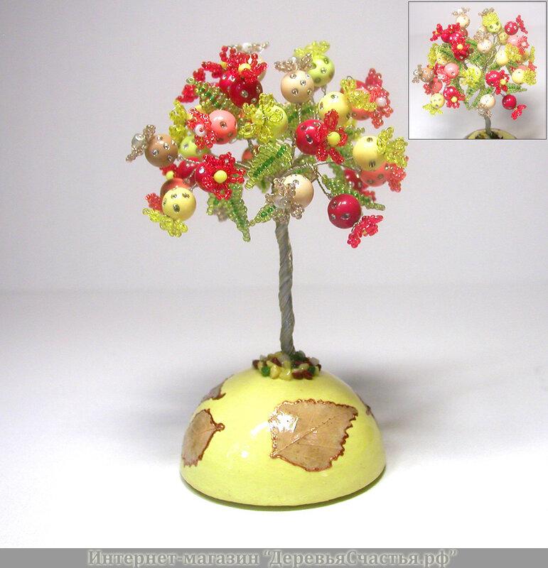 Вы можете приобрести цветное дерево из бисера ручной работы нашего мастера.