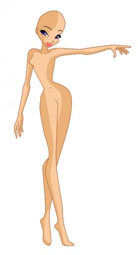 Картинки Винкс манекены, волшебницы без одежды.