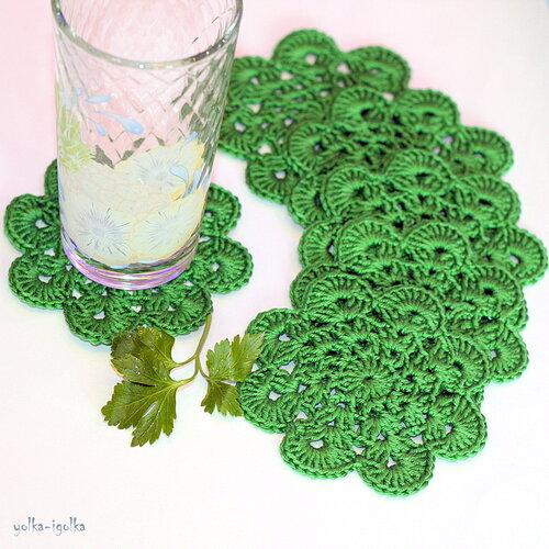 Подставки зелёные