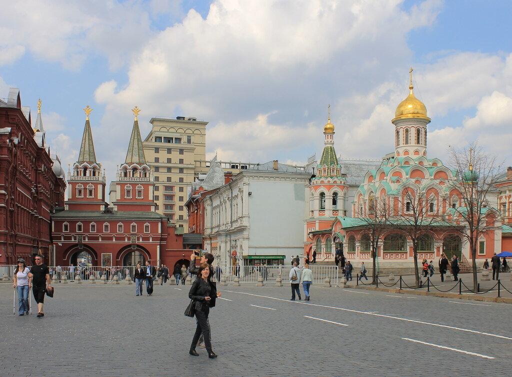Москва. Красная площадь, Воскресенские ворота, Собор Казанской Божьей Матери