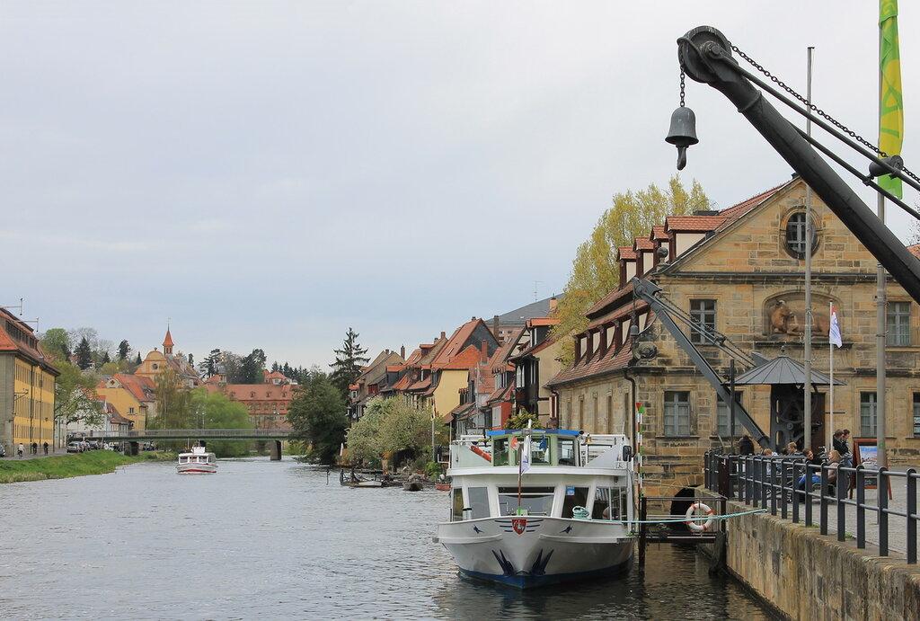 Бамберг. Река регниц.  Bamberg. Regnitz River