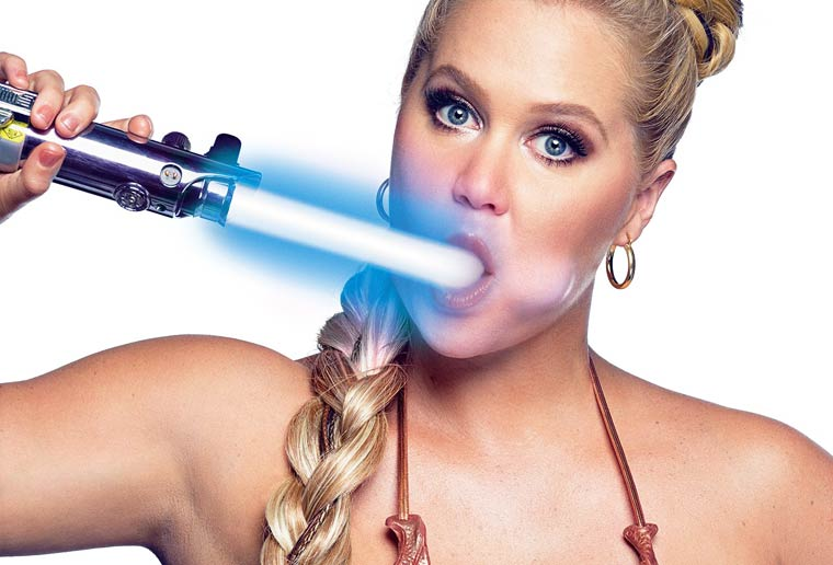 Sexy Star Wars - Amy Schumer dresses up as Princess Leia for GQ magazine