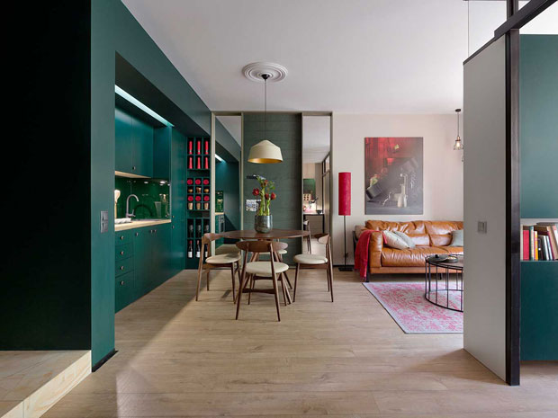 Kiev Apartment Interior Design by Designer Elena Fateeva
