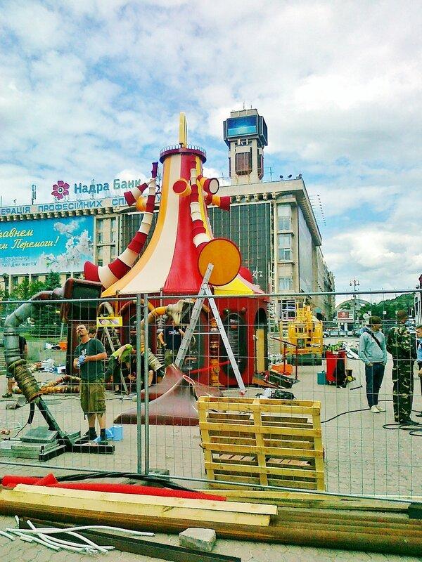 Киоск Макдональдс фан-зоны на Майдане Незалежности