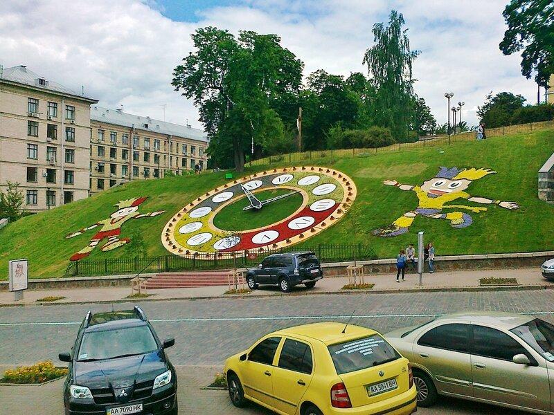 Цветочные часы Евро 2012