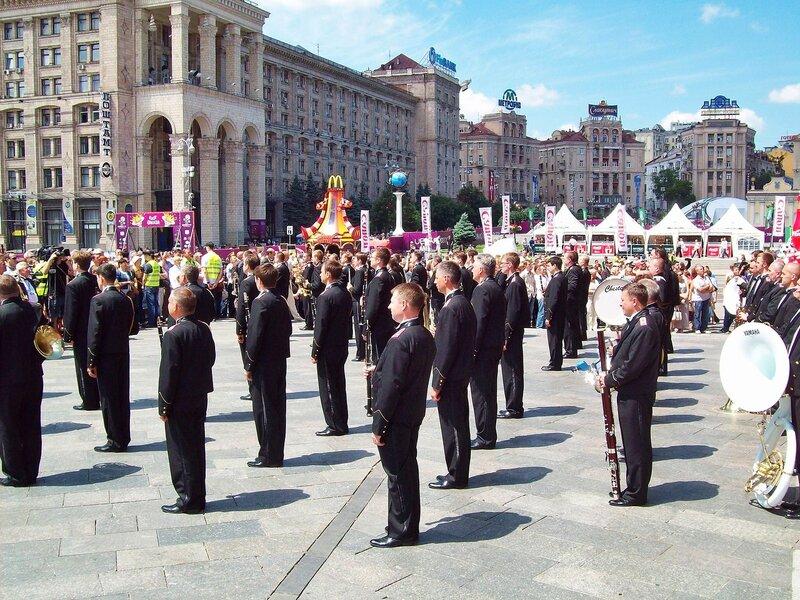 Президентский оркестр на Майдане Незалежности