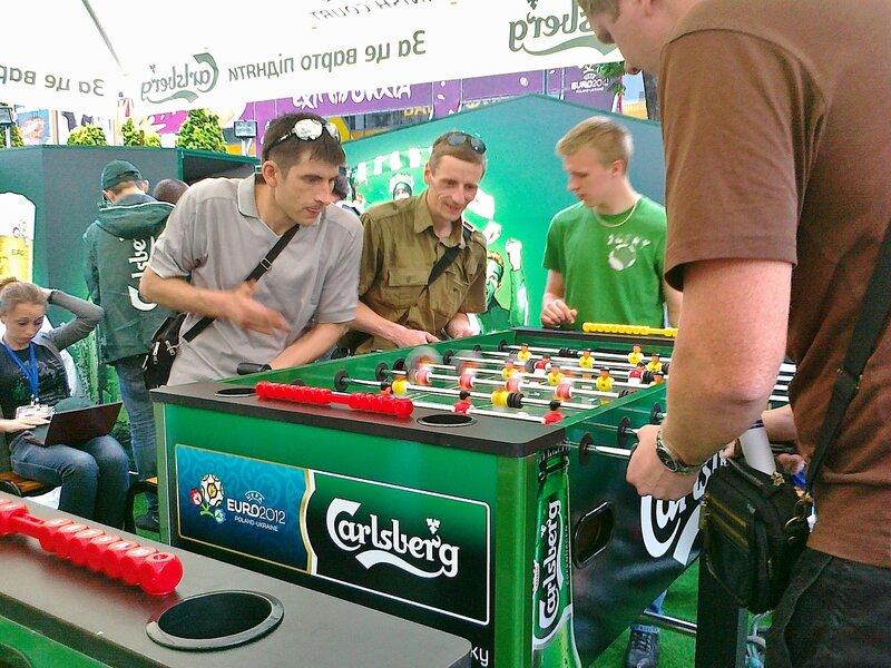 Турнир по настольному футболу в фан-зоне Киева