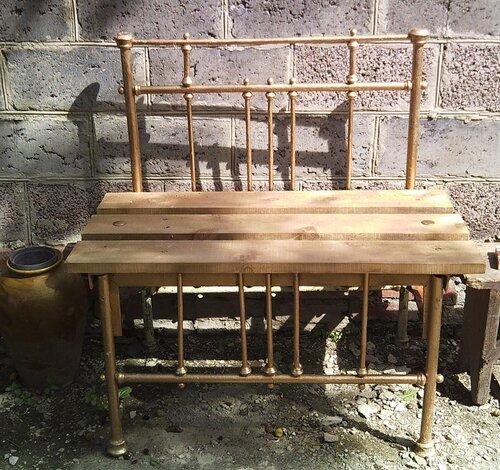 Как отреставрировать старую скамейку