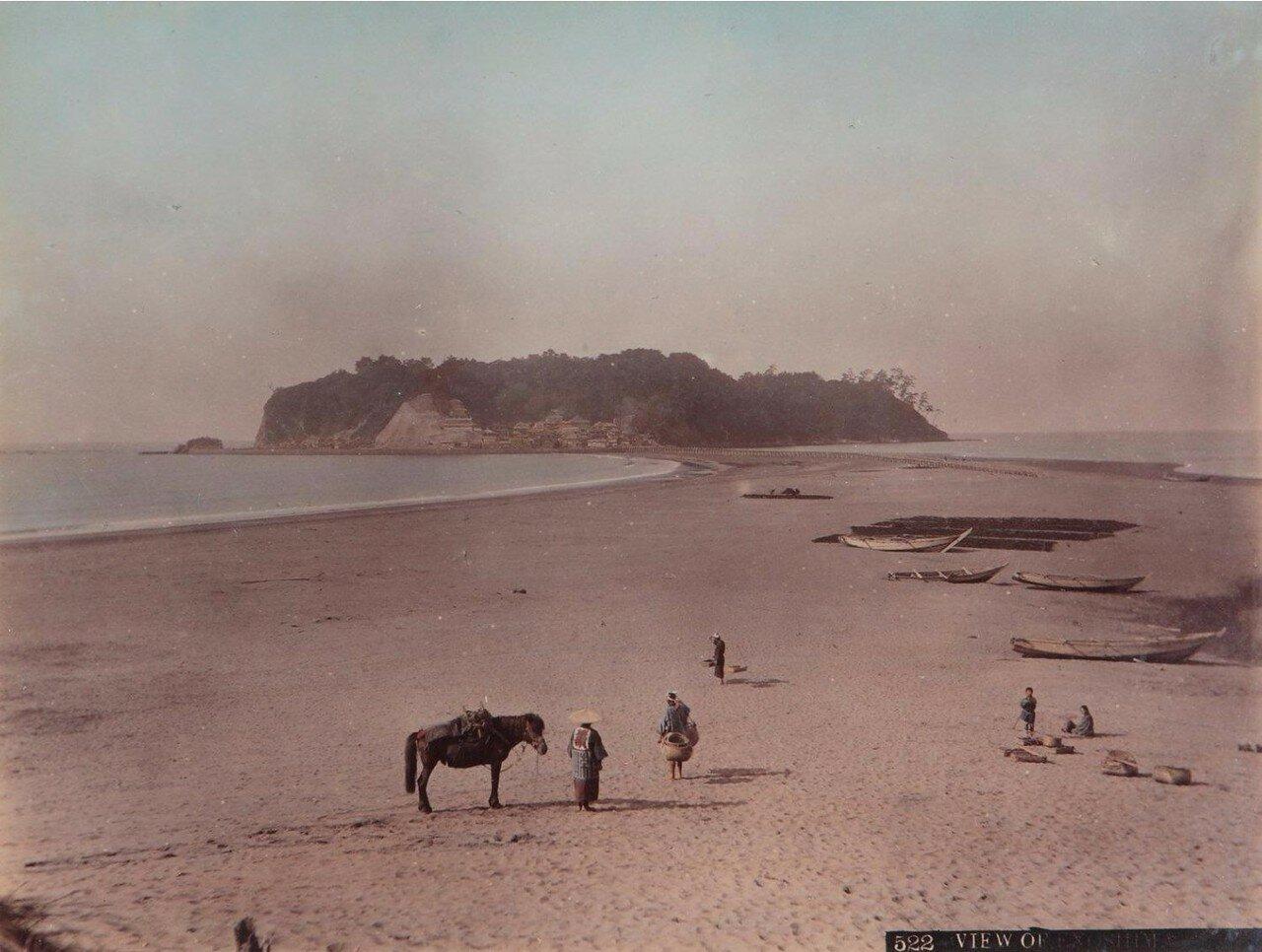 Пляж Исохара, ок 1880