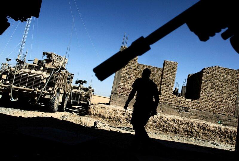 Afghanistan.<br />Britiske soldater arbejder tæt sammen med danskerne i Helmand. Bla. står briterne for meget af flytransporten.